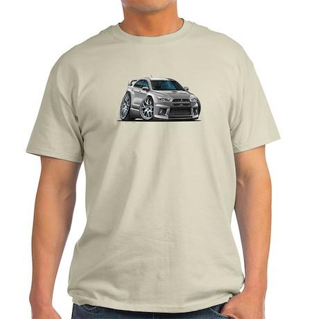 Mitsubishi Evo Silver Car Light T-Shirt