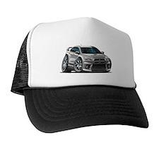 Mitsubishi Evo Silver Car Trucker Hat