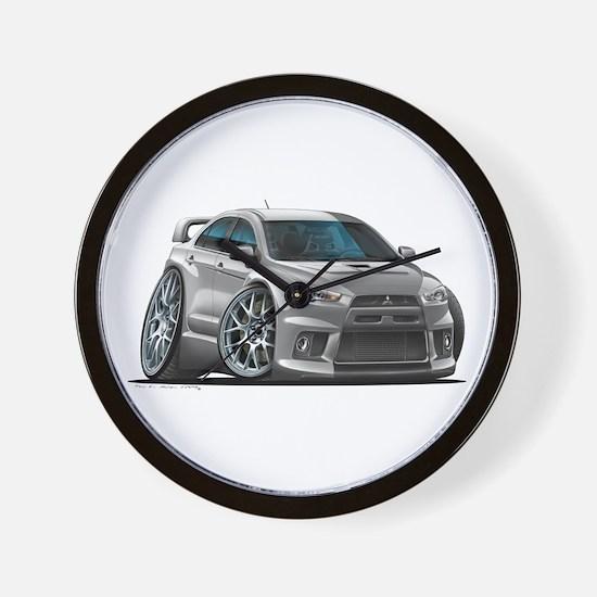 Mitsubishi Evo Silver Car Wall Clock
