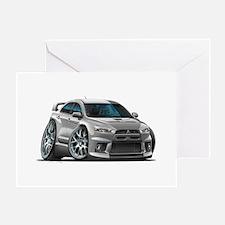 Mitsubishi Evo Silver Car Greeting Card