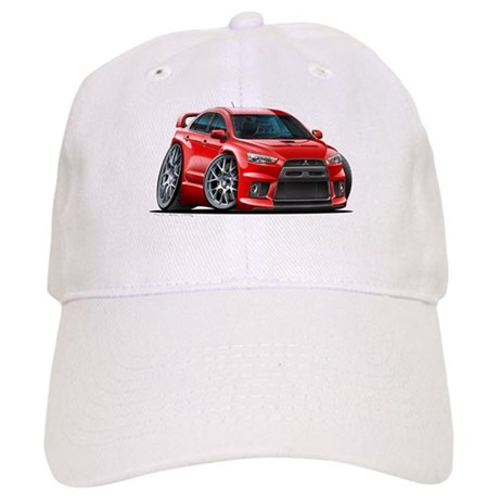 Mitsubishi Evo Red Car Cap