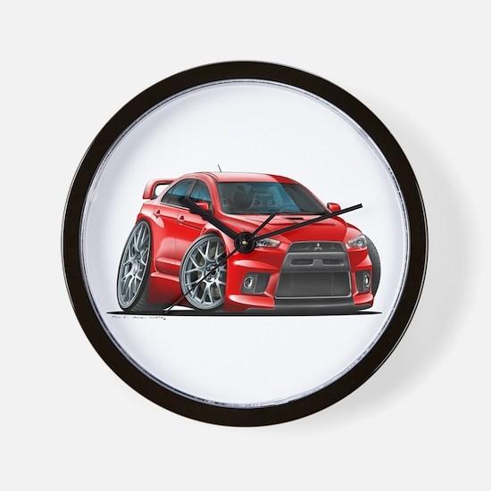 Mitsubishi Evo Red Car Wall Clock