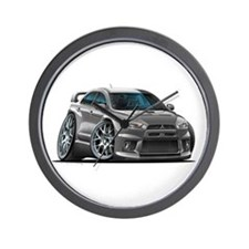 Mitsubishi Evo Grey Car Wall Clock