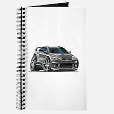 Mitsubishi Evo Grey Car Journal