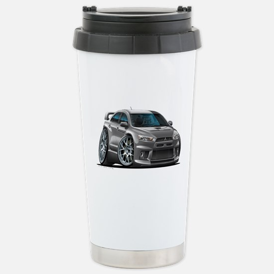 Mitsubishi Evo Grey Car Stainless Steel Travel Mug