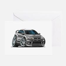 Mitsubishi Evo Grey Car Greeting Card