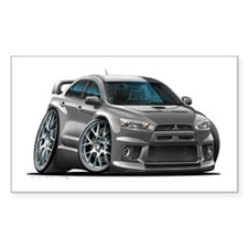 Mitsubishi Evo Grey Car Decal