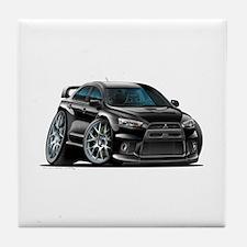 Mitsubishi Evo Black Car Tile Coaster