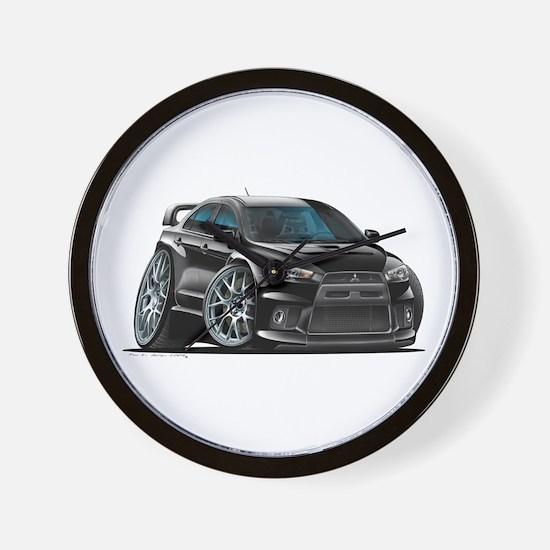 Mitsubishi Evo Black Car Wall Clock