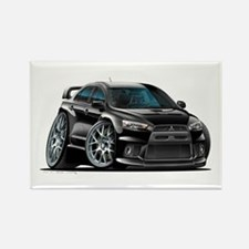 Mitsubishi Evo Black Car Rectangle Magnet
