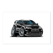 Mitsubishi Evo Black Car Postcards (Package of 8)