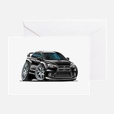Mitsubishi Evo Black Car Greeting Card