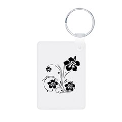 Illustrated Graphic Flower Keychains
