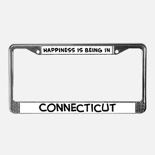 Happiness is Connecticut License Plate Frame