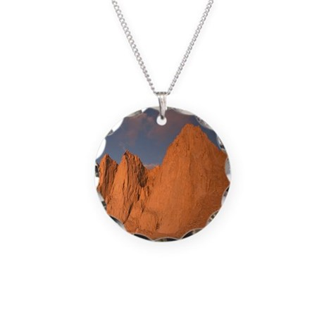 Mt Whitney Necklace Circle Charm