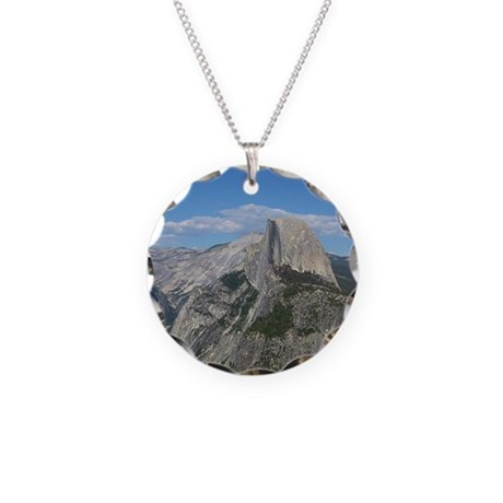 Half Dome Necklace Circle Charm