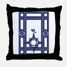 Blue North Throw Pillow