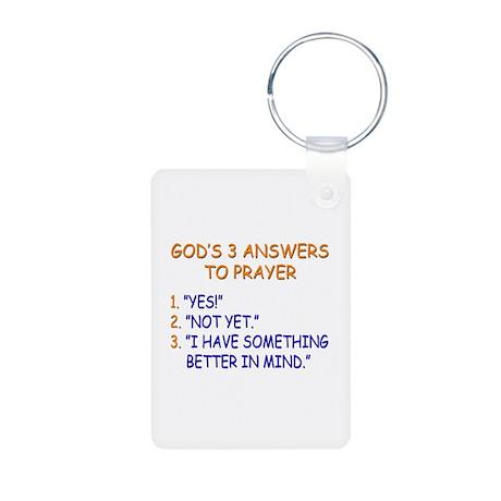 GOD'S ANSWERS TO PRAYER Aluminum Photo Keychain