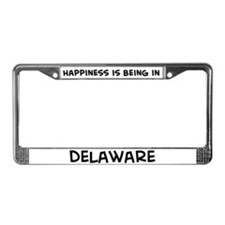 Happiness is Delaware License Plate Frame