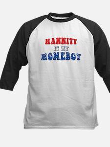 Hannity Is My Homeboy Kids Baseball Jersey