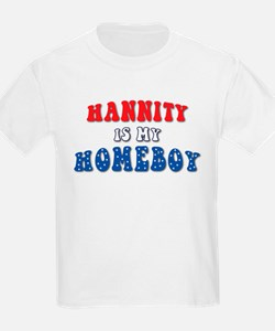 Hannity Is My Homeboy Kids T-Shirt