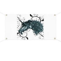 3D Unicorn Banner