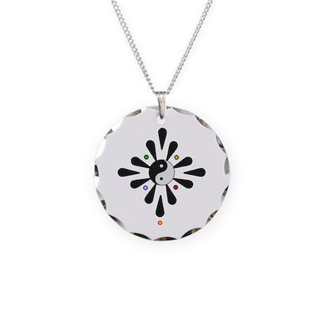 Yin Yang Yoga Necklace Circle Charm
