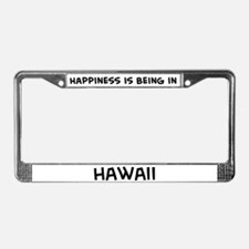Happiness is Hawaii License Plate Frame