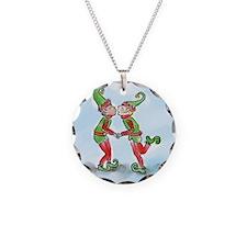 Elves Kissing Necklace