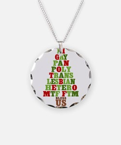 Diversity Christmas Tree Necklace