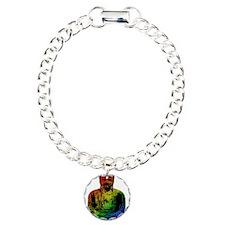 Rainbow Buddha Charm Bracelet, One Charm