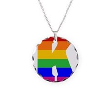 Rainbow Letter K Necklace