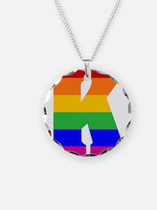 Rainbow Letter K Necklace