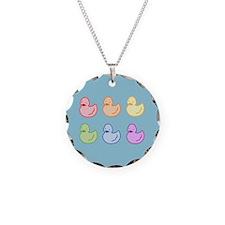 Rainbow Duckies Necklace
