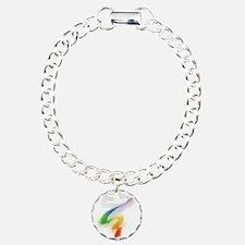 Dove with Rainbow Ribbon Bracelet