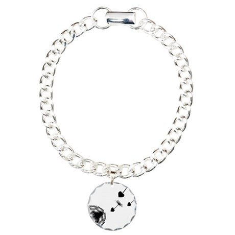 Dandelion Love Charm Bracelet, One Charm