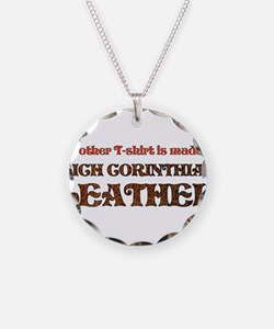Funny Corinthian Leather Necklace