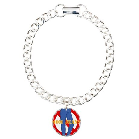 No Mom Jeans Charm Bracelet, One Charm