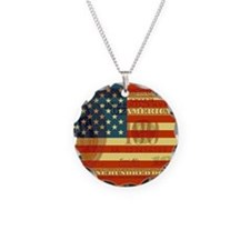 Flag with Hundred Dollar Bill Necklace