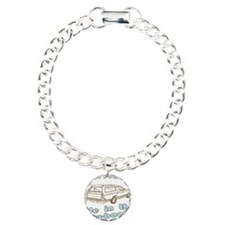 Mom Lets Me Ride in the Way-b Charm Bracelet, One