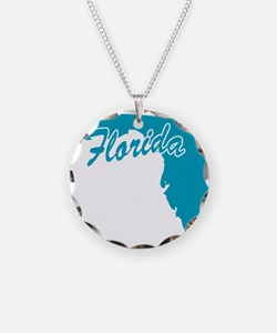State Florida Necklace Circle Charm