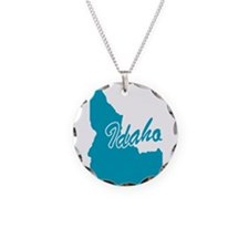 State of Idaho Necklace Circle Charm