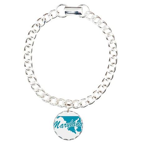 State Maryland Charm Bracelet, One Charm