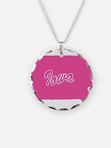 Pink Iowa Necklace