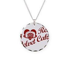 I Love Red Velvet Cake Necklace
