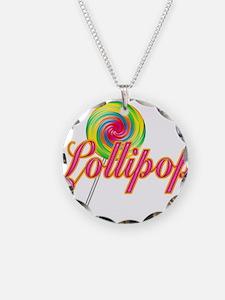 Text Lollipop Necklace