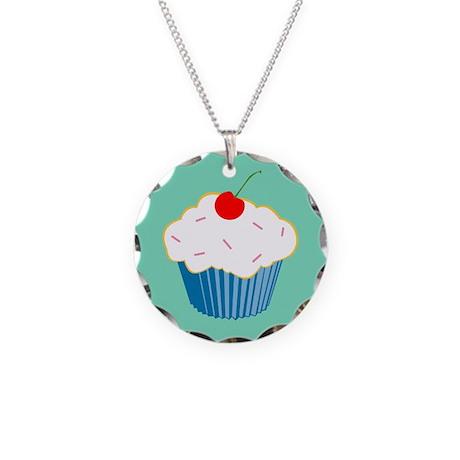 Cupcake Necklace Circle Charm