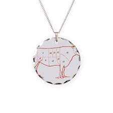 Retro Beef Cut Chart Necklace
