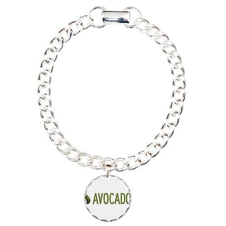 I Love Avocados Charm Bracelet, One Charm