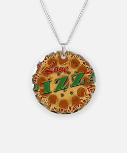 I Love Pizza Necklace